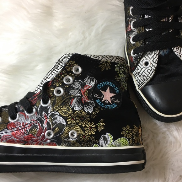 0dd712ab5f1f Converse Shoes - Brocade Floral Converse Chuck Taylor Double Tongue